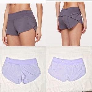 Lululemon purple speed up shorts sz 6